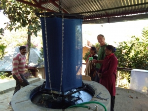 indigo vat dyeing with Axel